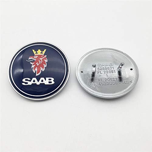 FTC 1 stück 50mm Geeignet für SAAB 93 9-3 900 9000 50mm Motorhaube Emblem Abzeichen 5289871 blau