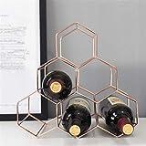 TUHFG Estantería de Vino Estante de Vino Nordic Geométrico Rack Metal Simple Hogar UVA Rack Rack...