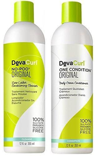 Devacurl No-poo Shampoo & Devacurl One Condition Duo - 12oz by DevaCurl