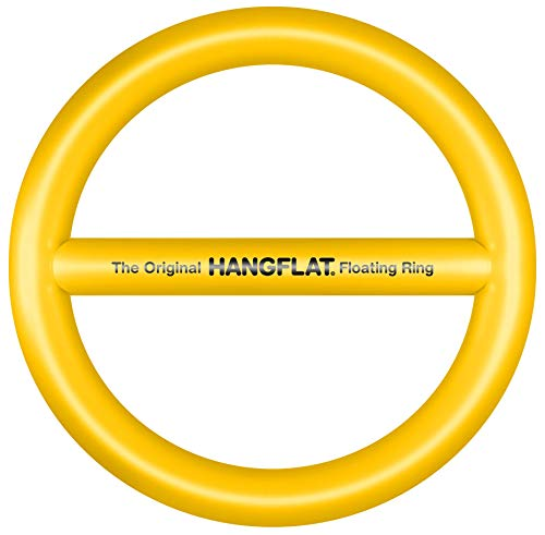 Hangflat Floating Ring - Pool Floats - Pool Lounger - Float Tube - Inflatable Floats - Multi Person Float - 10' x 11' x 1.5' (Pineapple Yellow)