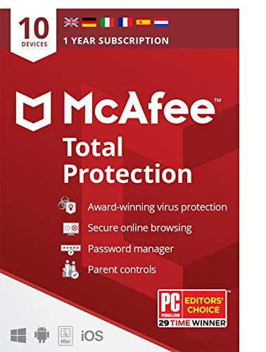 McAfee Total Protection 2021 | 10 Device | 1 Year |Antivirus Software,...