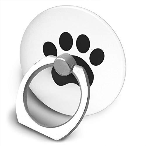 Anillo de teléfono Celular Anillo Soporte de Dedo Kickstand, rotación de 360 Grados Soporte de Agarre con Soporte de Coche Compatible con Todos los Smartphone-Cute Huella de Pata