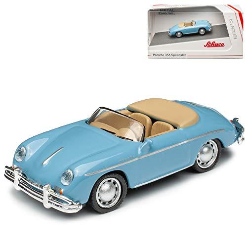 Porsche 356A Speedster Cabrio Hell Blau 1955-1959 H0 1/87 Schuco Modell Auto mit individiuellem Wunschkennzeichen