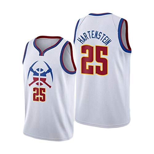 YPKL Isaías Hartenstein Jersey de Baloncesto para Hombres, 2021 New Temporada Denver Nuggets # 25 Jerseys White, Fan Jersey Training Ropa Camiseta Regalo (S-XXL) M