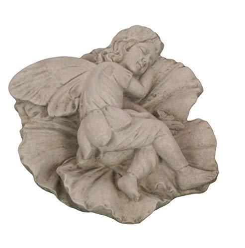 Steinfigur schlafende Elfe, Gartenfigur, 19 cm lang