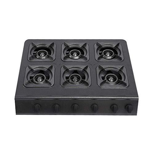 Gaskochfeld 27 & Prime; x22 & Prime;Kommerzielles Eisen, geeignet für Erdgas/Flüssiggas 6-Flammen-Gasherd, Desktop Piezo Ignition Clay Pot Herd