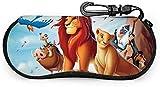 HGFK The Lion King Eyeglass Case Gafas de sol Estuche blando Neopreno Portátil Viaje Cremallera Gancho