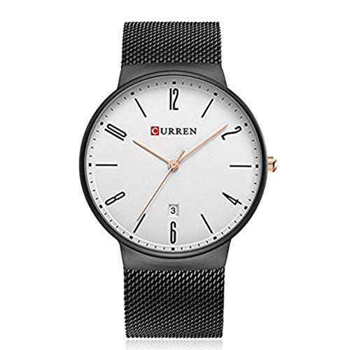 xisnhis schöne Uhren curren8257 Netto - männer auf Stahl - Kalender wasserdichte Uhr