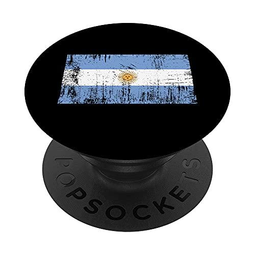 Bandera Argentina Regalo Aficionado al fútbol Deportes PopSockets PopGrip Intercambiable