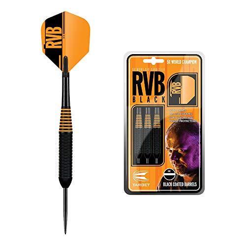 Target Darts Raymond Van Barneveld RVB Schwarzes 24G Messing Steeldarts Dartpfeile-Set