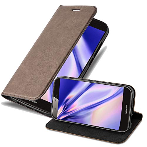 Cadorabo Hülle für Huawei G7 Plus / G8 / GX8 in Kaffee BRAUN - Handyhülle mit Magnetverschluss, Standfunktion & Kartenfach - Hülle Cover Schutzhülle Etui Tasche Book Klapp Style
