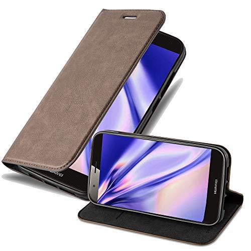 Cadorabo Hülle für Huawei G7 Plus / G8 / GX8 - Hülle in Kaffee BRAUN – Handyhülle mit Magnetverschluss, Standfunktion & Kartenfach - Case Cover Schutzhülle Etui Tasche Book Klapp Style
