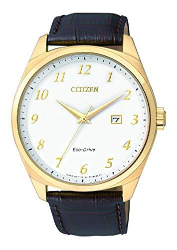 Citizen Hombre Reloj de Pulsera analógico Cuarzo, Revestimiento de Acero Inoxidable bm7322–06A