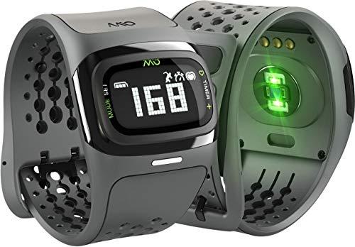 Mio ALPHA 2 Heart Rate Watch + Activity Tracker, Regular/Long Strap, black (Certified Refurbished)