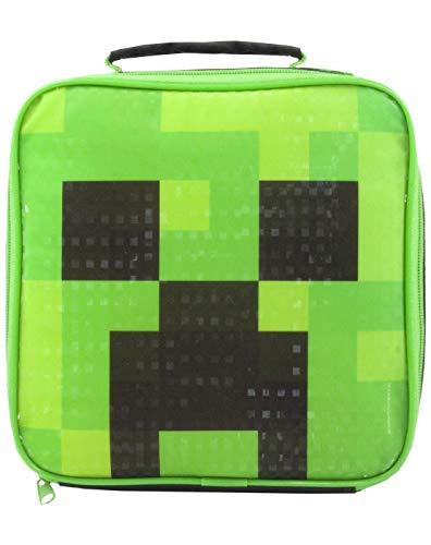 Minecraft Kriecher Frühstückstasche Lunchbox 23x23x8 CM