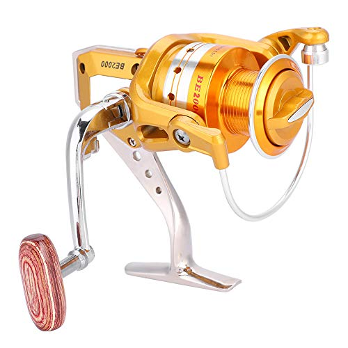 TANKE Durable ligero Metal Heavy Duty Casting Spinning Pesca Carrete Fisher Accesorio BE 2000