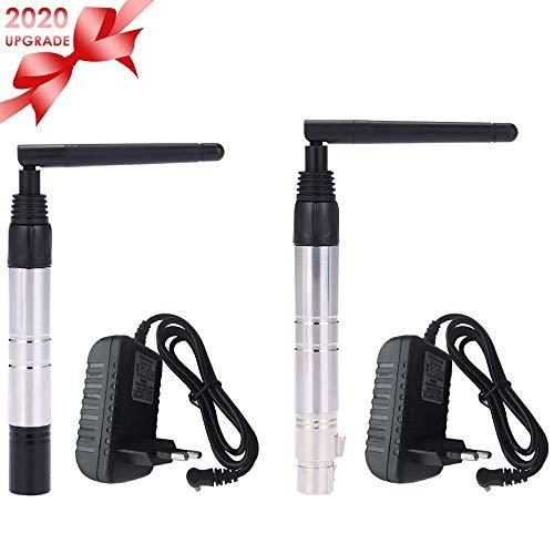 Lixada DMX Sender/DMX Transmitter,1000M Ultra Long Distance 2,4 G ISM DMX512 Wireless Sender amp,Empfänger 23DBM Lichtsteuerung mit Antenne für Bühnenlicht PAR-Effektlampe
