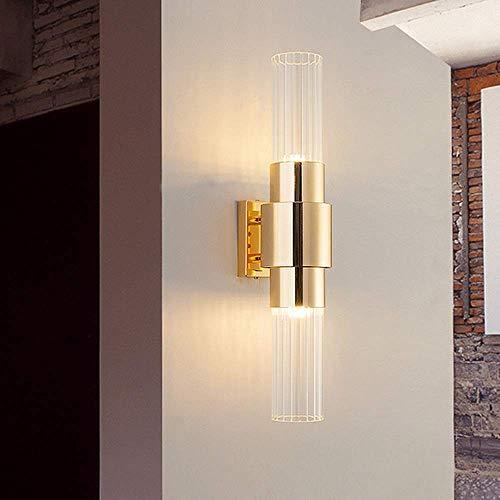Mkjbd wandlamp wandlamp wandlamp wandlamp postmoderne wandlamp van kristal 3 dimmer kleuren 9 x 45 cm hotel nachtkastje Corridoio Corridoi