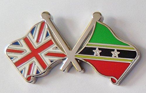 1000 drapeaux St Kitts Christophe et Nevis et drapeau du Royaume-Uni