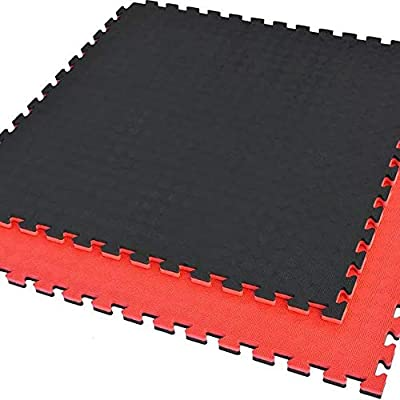 Yoga Floor Puzzle Mat | soft foam Interlocking Tiles | Multi-colors on both side| Best for Yoga, home gym floor, sitting room, Exercise, Gymnastics and Home Gym Protective Flooring