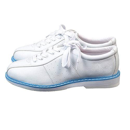 Gogdog Weiße Bowlingschuhe für Männer Frauen Unisex Sport Anfänger Bowlingschuhe Turnschuhe