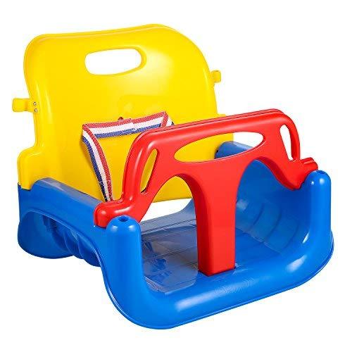 Profun Columpio Infantil Columpio de Jardín para Niños con Asiento de Respaldo Alto de Seguridad con Cadena de Metal 1.5M para Exterior (Multicolor 1)