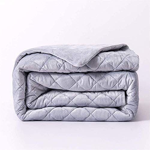 Chihen Removable Duvet Cover Weighted Blankets Inner Layer To Keep Clean Easy Care With Zipper Grey Crossing Many Kinds Of Size (Color : White, Size : 150 * 200cm)