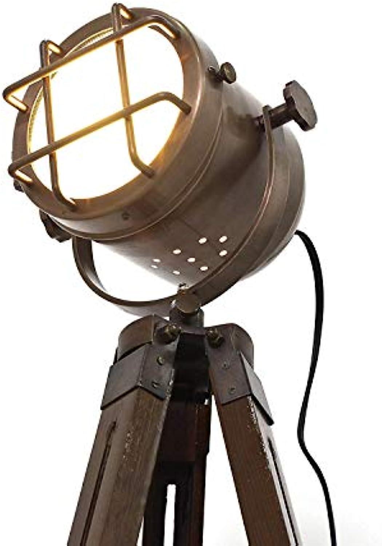 Decorative Copper Finish Antique tripod lamp portable office lighting decor low floor lamp marine Corner lights