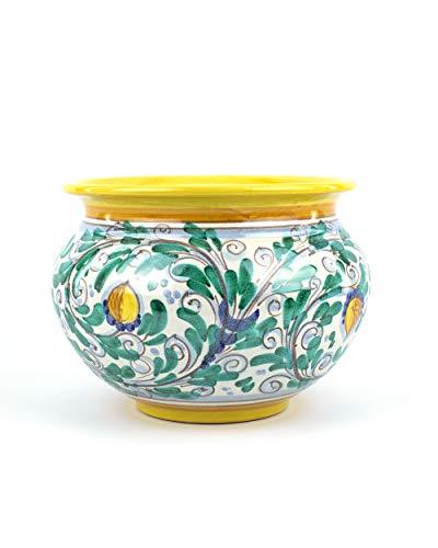 Porta Vaso in Ceramica di Caltagirone Fatto a Mano