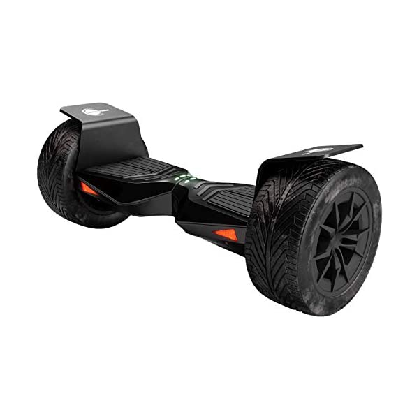 Electric Scooters Wheelheels Balance Scooter, Hoverboard 'F-Cruiser' – 10″ inflated wide tires, aluminium fenders, app control, FROM GERMANY (Black)