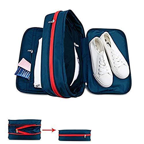 make up bag Voyage Sac Stockage Compressé De Housse étanche Portable Sac De Rangement Sacs De Toilette Blue