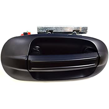 Outside Exterior Outer Door Handle Passenger Side Rear Smooth Black PT Auto Warehouse FO-3745S-RR