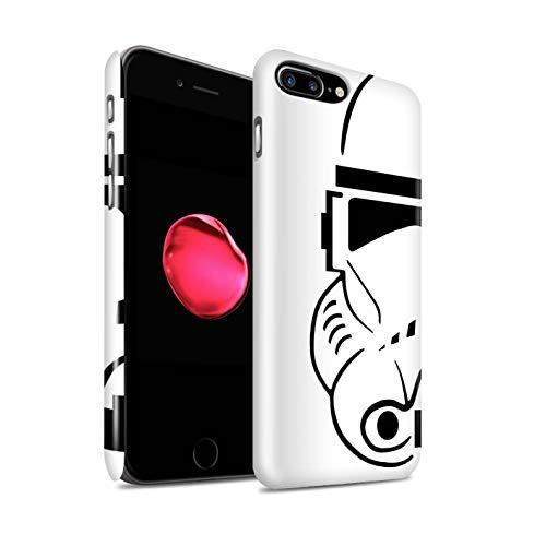 Stuff4 Lucidare Duro Snap On Custodia/Cover/Caso/Cassa del Telefono per Apple iPhone 7 Plus/Clone Soldato/Assalto Soldato Casco Disegno