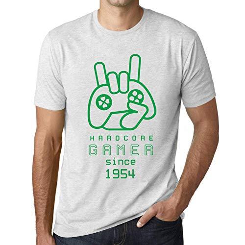 One in the City Hombre Camiseta Vintage T-Shirt Gráfico Hardcore Gamer Since 1954 Cumpleaños de 67 años Blanco Moteado