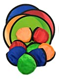 SVT Bulk 12 Pack Foldable Flying Disc or Fan with Storage Bag Assortment - 9.5' Folding Frisbees in Four Exciting Colors