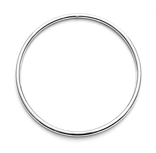 925Sterling Silber Armreif rund Slave Armband Umfang 23cm & 3mm Stärke