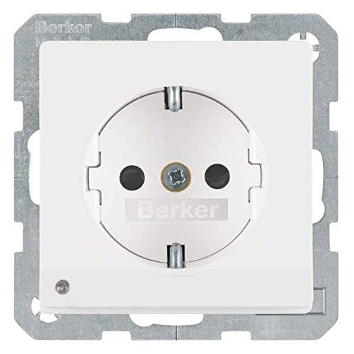 Hager - stopcontact chuko Q1/Q3 LED uitlijning wit polar velours