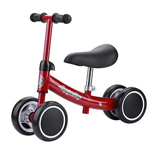 AYNEFY Ohne Fußpedal Balance Fahrrad,Laufrad für Baby Kinder Laufrad 2 Jahre Kinder Laufrad Lauflernrad Kleinkind Fahrrad AB für Kinder 1-3year Balance Car Auto Ausbalancieren Kleinkinder Walker(Rot)