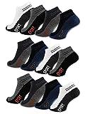 8 | 12 | 20 Paar Sneaker Socken Herren Sport Baumwolle Atmungsaktiv 16737 (43-46 12 Paar)