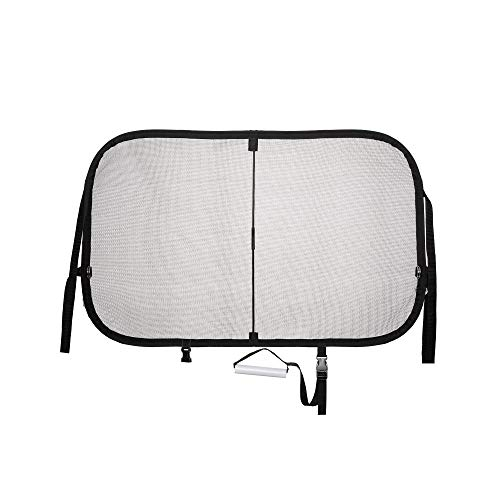 PetSafe Happy Ride Cargo Area Dog Barrier - See-through Durable Mesh Material - Fits Most Cars, Minivans and SUVs - Keep Pets in the Back - Easy to Store in Vehicles