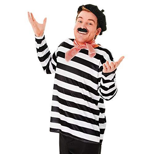 Bristol Novelty Herren Franzosen-Kostüm-Set (Einheitsgröße) (Bunt)