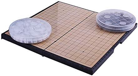 Go Game Travel Set F/ür Kinder Und Erwachsene,28 x 28 cm Cutfouwe Spiel Go,Magnetisch Go Spiel Set Mit Steinen Und Brett Weiqi Lernspiele