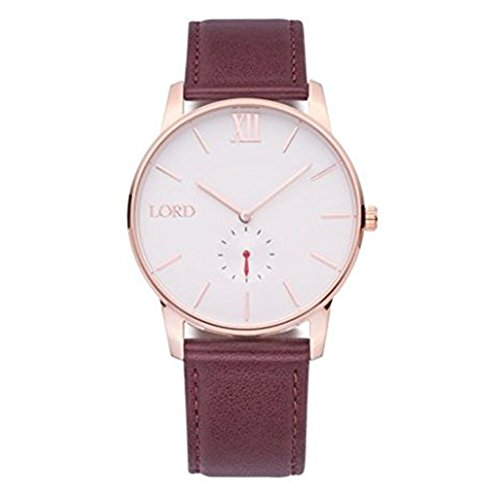 Lord Timepieces Uhr Solitude Rosegold Braun