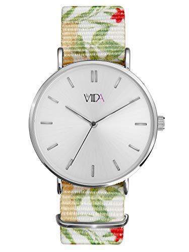 LaViida wib1705s Ibiza Reloj Banda de Reloj plástico Acero Inoxidable 3Bar analógico para Mujer