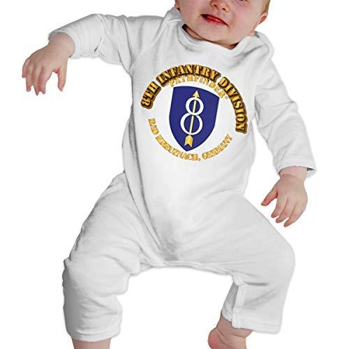 8th Infantry Div Pathfinder Bad Kreuznach Ge Child Fashion Jumpsuit Bodysuit Jumpsuit Outfits Jumpsuit Casual Clothing White