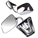 ECCPP Pair Set Fit for 1973-91 Chevy/Chevy GMC Jimmy Suburban C10 20 30/C/K1500 2500 3500/C15 25 35 Manual Stainless Mount Folding Chrome Side Mirrors