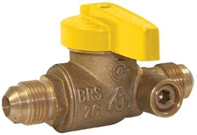 Homewerks VGV-1LS-T3B Premium Side Tap Gas Ball Valve, Flare x Flare, Brass, 1/2-Inch by Homewerks