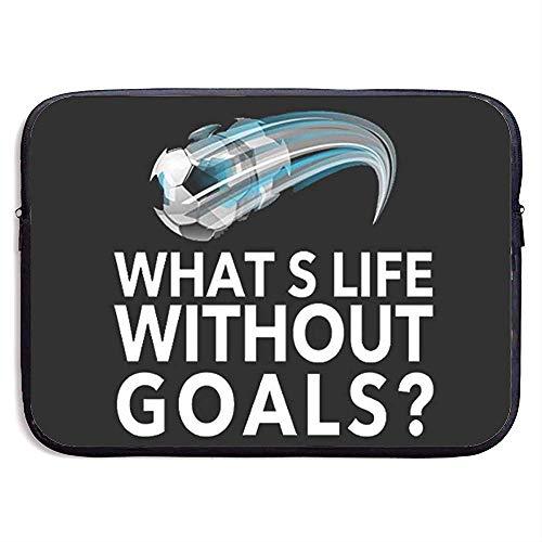 Wat is het leven zonder doelen Voetbal 15 Inch Laptop Sleeve Bag - Tablet Koppeling Draagtas
