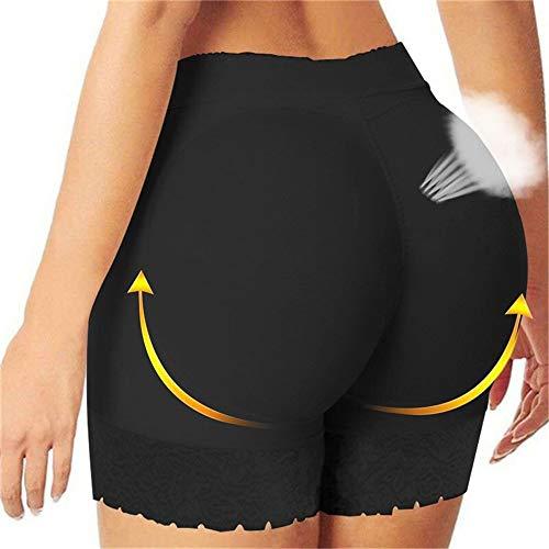 Fajas Control de las bragas de las mujeres de Big Culo Butt Lifter botín Hip Enhancer talladora del cuerpo de la cintura acolchada Panty entrenador de encaje a corto ( Color : Sexy Black , Size : L )