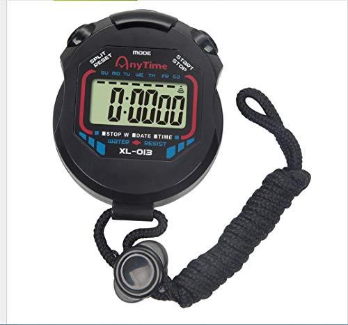 JUZEN Handheld elektronische Stoppuhr Professional Event Timer Präzisions-Timing, Countdown-Timer Wecker Stoppuhr, schwarz